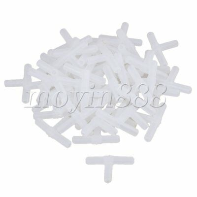 50 x Air  Hose Tube Plastic Water Tee Connector For Fish Tank Aquarium 5mm Dia