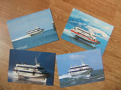 Oostende Lines Princess Clementine Stephanie Townsend Jetfoil Ferry Postcards