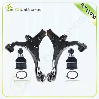 Suspension 2 Lower Control Arms and 2 Lower Ball Joints For 2001-2005 Acura EL
