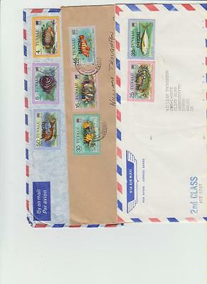 Tuvalu air mail covers