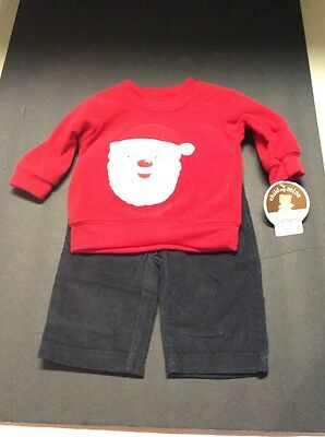 ae7ede94ee01 CHILD OF MINE by Carters Boys 3 Piece Outfit Blue Black Monkey Size ...