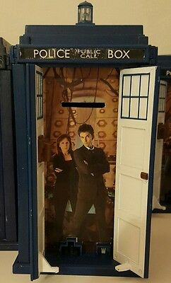 Doctor who Tardis Rare money box 10th Dr and Donna. Collectors piece very rare