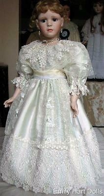 """Porcelain doll """"Renee"""" by Emily Hart fine pure silk costume"""