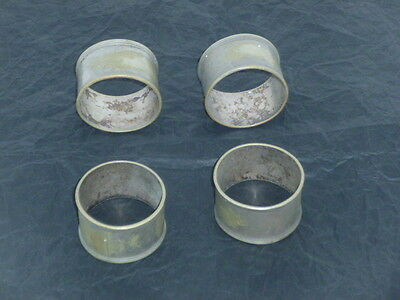 4 napkin rings silver plate
