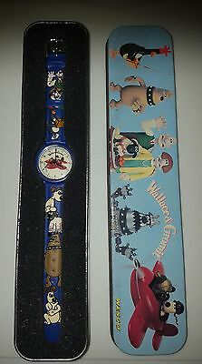wallace and gromit watch in tin never been worn