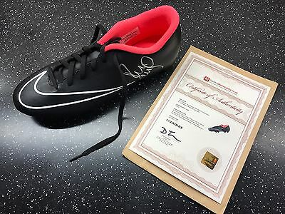 Paul Scholes Hand Signed Nike Black Football Boot - Signed Silver Autograph