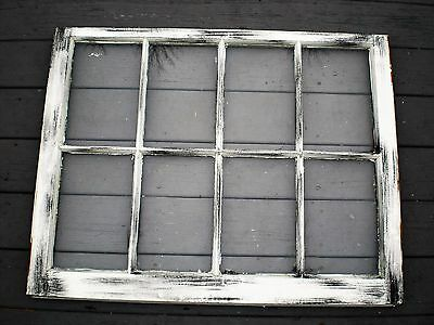 VINTAGE SALVAGED SASH ANTIQUE WINDOW PINTEREST WOOD FRAME 36x28 ( 8 PANE GLASS )