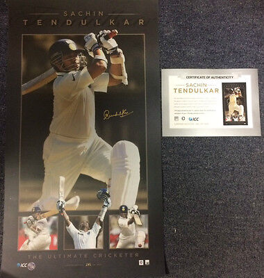Sachin Tendulkar India Hand Signed Retirement Limited Edition Test Print