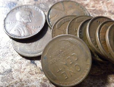 1934-P Varying Circulated Condition Roll Lincoln Wheat Head One Cent Penny 1C