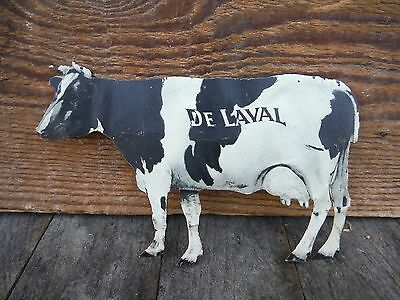 Vintage De Laval Tin Litho Cow Sign Cream Separator Advertisement
