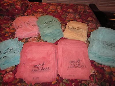 Matilda Jane Mesh Bags lot of 20 Assorted sizes and Colors (Pink Blue Green, etc