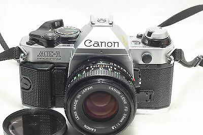 Canon AE-1 Programe film Camera w/ FD 50mm f1.8 lens *Excellent*