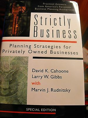 Strictly Business America Foremost Buiness Planning Authorities Signed