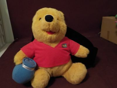 Nice 1994 Winnie The Pooh With Honey Pot Stuffed Toy By Mattel