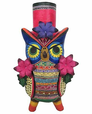 Mexican Day of the Dead Ceramic Candelholder