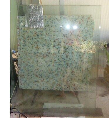 Glass fence panel