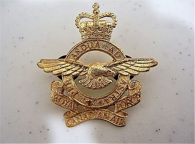 ROYAL CANADIAN AIR FORCE WINGS BADGE INSIGNIA GOLD with double screw fitting