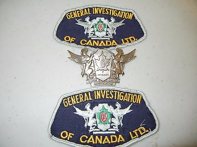 GENERAL INVESTIGATION of CANADA FIRE INVESTIGATORS FIREFIGHTERS SHIELD & PATCHES