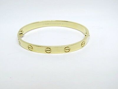 CARTIER LOVE Genuine 18K. Yellow Gold Bangle Size 16