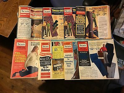 8 Sears 1970 1971 1972 Catalog Flyers Spyder Bicycles Electronics Clothing Tools