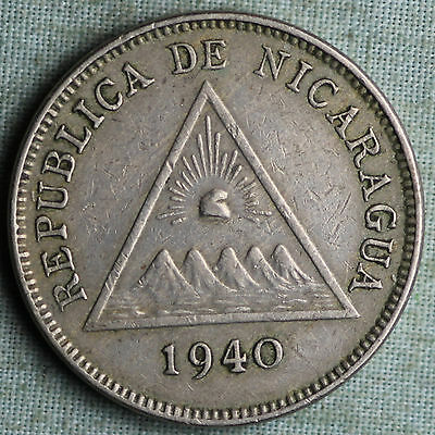 1940 Nicaragua 5 Centavos~Combined S.& H.