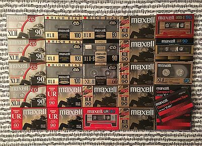 Lot 26 Maxell Blank Audio Cassette Tapes Sealed