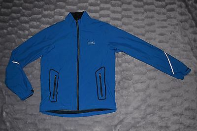 GORE RUNNING WINDSTOPPER ACTIVE SHELL mens waterproof jacket LARGE VGC blue