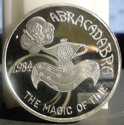 1984 Mobile Mystics of Time .999 Silver Mardi Gras Doubloon~THE MAGIC OF TIME