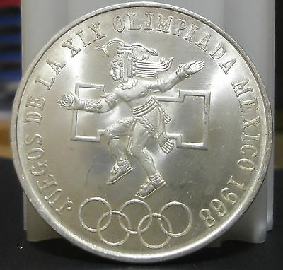 1968 BU MEXICO 25 PESOS OLYMPIC SILVER COIN .~Combined S.& H.