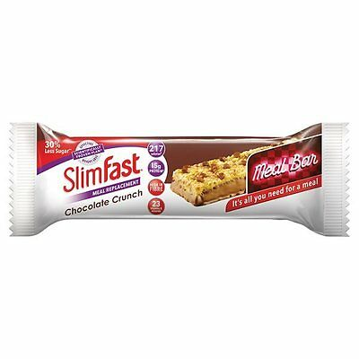 Slim Fast Meal Replacement Bar Single 217cal - Choose Your Flavour