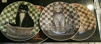 4 D.C BROWN & CO - Country Kittens Plate - Kitten/Cat