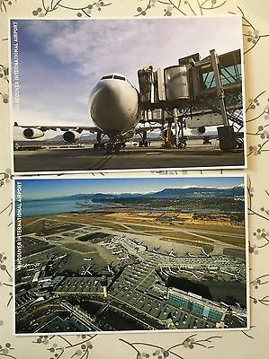 Vancouver International Airport Terminal  Airplane Aviation 2 Postcards