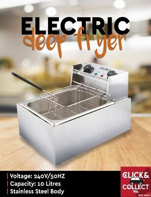 Duro Commercial Stainless Steel Electric Deep Fryer Frying Single 10L Basket