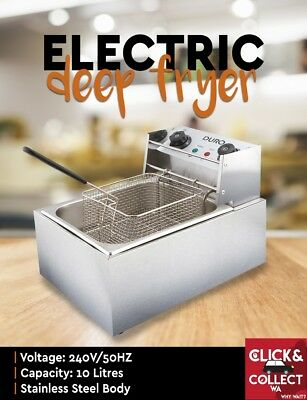 Duro Stainless Steal Electric Deep Fryer Frying Single 10L Basket PERTH PICK UP
