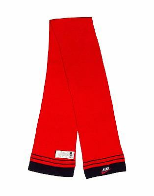 Boys Girls Youth Kids' Nike Red Knitted Scarf, Size 3-7 Year Old