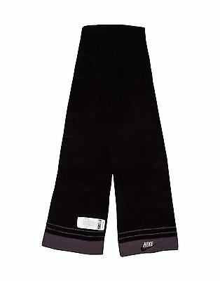 Boys Girls Youth Kids' Nike Black Knitted Scarf, Size 3-7 Year Old