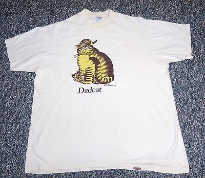 Vintage 1980 KLIBAN DADCAT T-SHIRT Size XL CRAZY SHIRTS HAWAII Good Condition