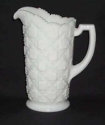 """Westmoreland OLD QUILT WHTE *6 1/2"""" JUICE PITCHER*OQ-2*"""