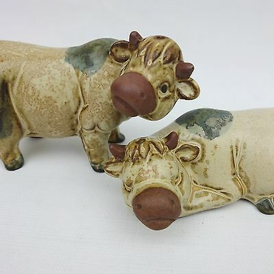 "Collectable Vintage ""Cows"" Gempo Pottery Japan Salt & Pepper Shakers"