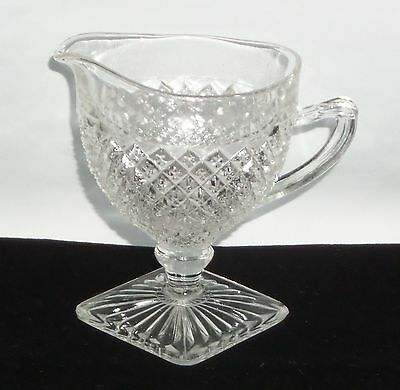 """Anchor Hocking MISS AMERICA CRYSTAL *4"""" FOOTED CREAMER*"""