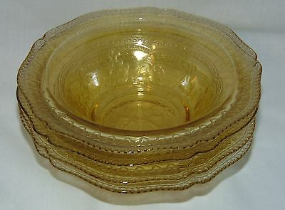 """4 Federal PATRICIAN AMBER *6"""" CEREAL BOWLS*"""