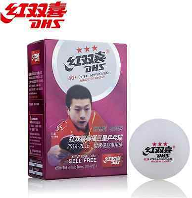 DHS New Material Seamed Ploy / Plastic 3 star 40+ table tennis ball 6pcs/box