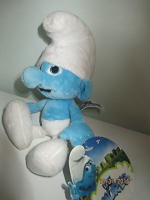 """The Smurfs """"clumsy"""" Bean Bag Plush 2011 New With Tags"""