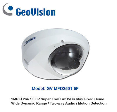 New Geovision GV-MFD2501 H.264 2MP Full HD 1080P IP Dome w/32CH NVR Software