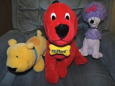 Kohl's Clifford the Big Red Dog, Cleo, TBone stuffed toys
