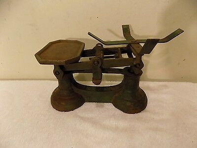 Antique Vintage Cast Iron Balance Scale, Marked- 7 lb For Domestic Use
