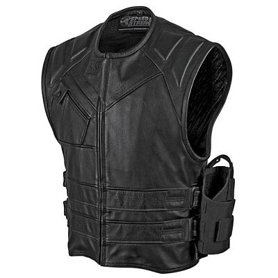 Speed & Strength Mens Quick and the Dead Leather Motorcycle Vest - Choose Size