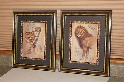 Home Interiors Leopard & Lion Pictures / Prints - J. Gibson