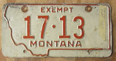 MONTANA County/City Police/Fire license plate  1963  17-13  Roosevelt Co