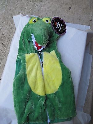 Chrisha Creations Plush Toddler Vest Costume Green Alligator Size 18-36 Months